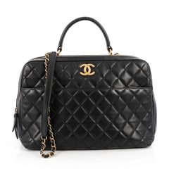Chanel Trendy CC Bowler Bag Quilted Leather Large Black 1882901