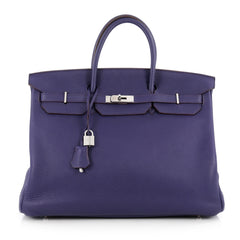 Hermes Birkin Handbag Purple Togo with Palladium 1888602
