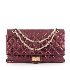 Chanel Reissue 2.55 Handbag Metallic Quilted Aged 1894103