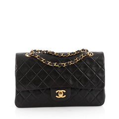 Chanel Vintage Classic Double Flap Bag Quilted Lambskin 1895703