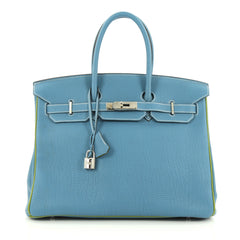 Hermes Birkin Handbag Bicolor Togo with Palladium 1896201