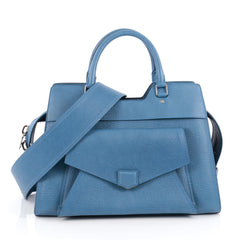 Proenza Schouler PS13 Satchel Leather Small Blue 1896813