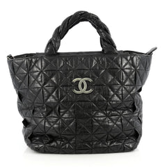 Chanel Origami Tote Quilted Aged Calfskin Large Black 1899201
