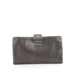 Chanel Fold Over CC Clutch Perforated Leather Large 1900101