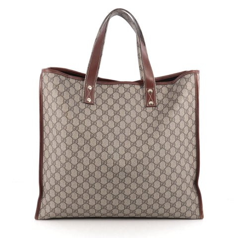 0779027084b55f Buy Gucci Web Loop Tote GG Coated Canvas Large Gray 1900501 – Rebag