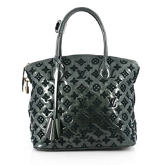 Louis Vuitton Fascination Lockit Handbag Patent Lambskin Green