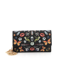 Alexander McQueen Chain Crossbody Bag Printed Leather Small Black