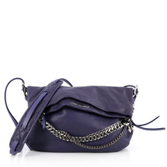 Jimmy Choo Biker Crossbody Bag Leather Small Purple