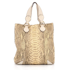 Gucci Creole Tote Python Large Yellow 1911901
