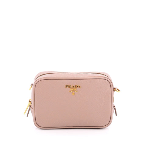 370620a039ec19 ... italy buy prada zip crossbody bag saffiano leather mini pink 1912201  rebag 4d0f0 4795e