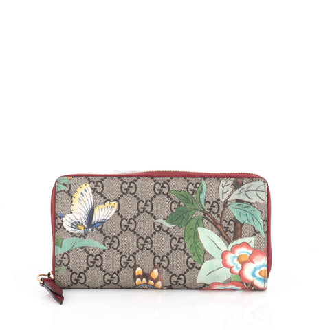 041b2462f0a Buy Gucci Zip Around Wallet Tian Print GG Coated Canvas 1917201 – Rebag