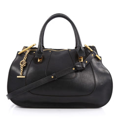 Chloe Hayley Satchel Leather Medium Black 1919701