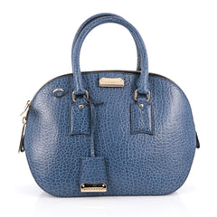 Burberry Orchard Bag Heritage Grained Leather Small Blue