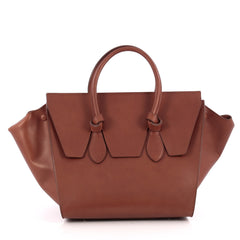 Celine Tie Knot Tote Smooth Leather Small Brown