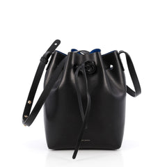 Mansur Gavriel Bucket Bag Leather Mini Black 1924501