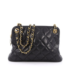 Chanel Vintage Zip Chain Shoulder Bag Quilted Leather 1924902