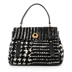 Saint Laurent Muse Two Handbag Tweed Medium Black 1925201
