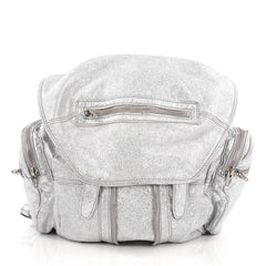 Alexander Wang Marti Backpack Leather Large Silver