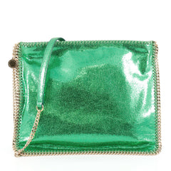 Stella McCartney Falabella Crossbody Messenger Bag Shaggy Deer Medium Green 1925736