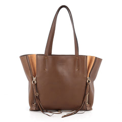Chloe Milo Shopping Tote Leather Medium Brown 1926302
