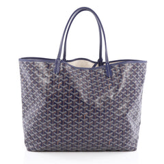 Goyard St. Louis Tote Coated Canvas GM Blue
