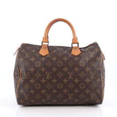 Louis Vuitton Speedy Handbag Monogram Canvas 30 Brown 1927805
