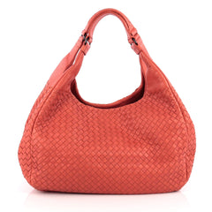 Bottega Veneta Campana Hobo Intrecciato Nappa Large Red 1928104