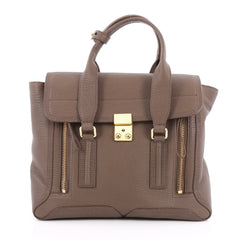 3.1 Phillip Lim Pashli Satchel Leather Medium Brown 1929002