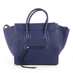 Celine Phantom Handbag Grainy Leather Medium Blue 1929801
