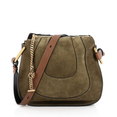 Chloe Hayley Hobo Suede Small Green 1929803
