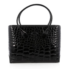 Tod's D-Styling Tote Alligator Medium Black 1935801