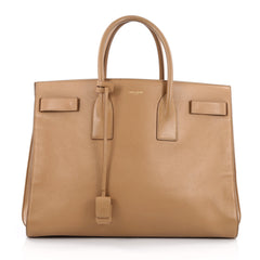Saint Laurent Sac De Jour Handbag Leather Large Neutral
