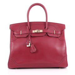 Hermes Birkin Ghillies Handbag Red Tadelakt with Gold 1938901