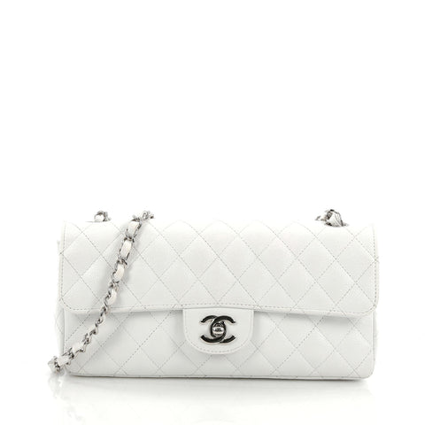 c2f1b43698a3 Buy Chanel Classic Single Flap Bag Quilted Caviar East West 1939501 – Rebag