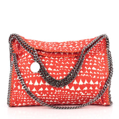 Stella McCartney Falabella Fold Over Bag Printed Canvas Red