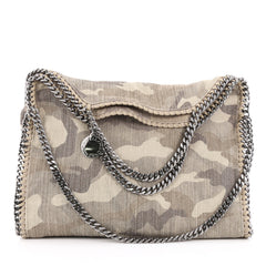 Stella McCartney Falabella Fold Over Bag Printed Canvas Neutral