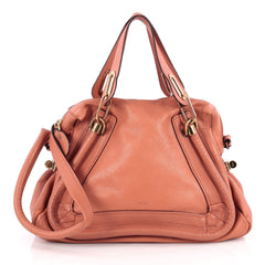 Chloe Paraty Top Handle Bag Leather Medium Pink 1944601