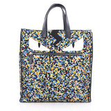 Fendi Monster Tote Printed Nylon Blue 1945301