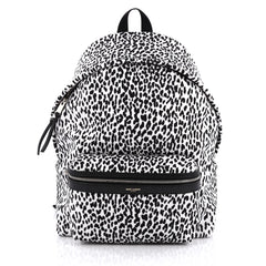 Saint Laurent City Backpack Printed Canvas Black