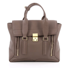 3.1 Phillip Lim Pashli Satchel Leather Medium Brown