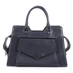 Proenza Schouler PS13 Satchel Leather Small Blue 1949802