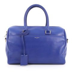 Saint Laurent Classic Duffle Bag Leather 6 Blue