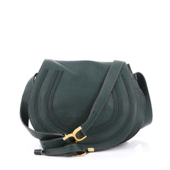 Chloe Marcie Crossbody Bag Leather Medium Green 1958401