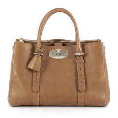 Mulberry Bayswater Double Zip Convertible Tote Leather Small Brown