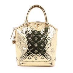 Louis Vuitton Lockit Handbag Miroir PVC Gold 1962707