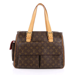 Louis Vuitton Multipli Cite Handbag Monogram Canvas Brown 1962804