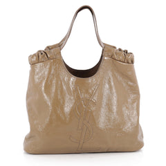 Saint Laurent Belle De Jour Cabas Tote Patent Large Brown 1966502