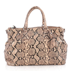 Prada Double Zip Lux Tote Python Large Pink 1971802