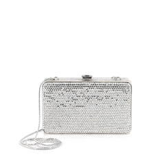Judith Leiber Minaudiere Crystal Small Silver 1974605