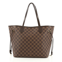Louis Vuitton Neverfull Tote Damier MM Brown 1977801
